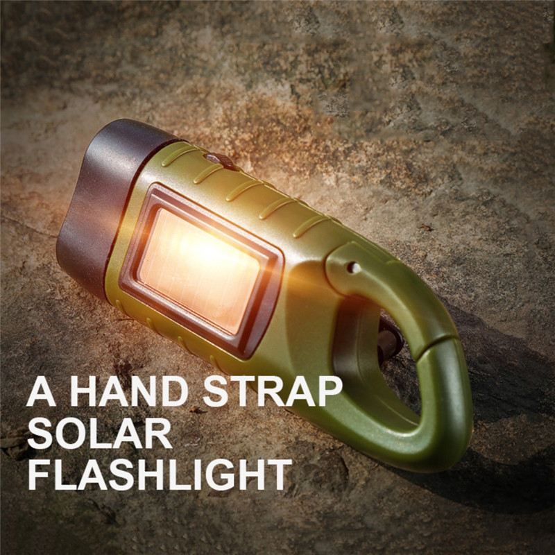 1Portable LED Flashlight Hand Crank Dynamo Torch Lantern For Outdoor Camping Mountaineering Professional Solar Power Tent Light
