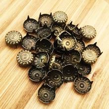 Four-Fastener Brads Studs-Decoration Scrapbooking Embellishment Crafts Metal Round Spikes