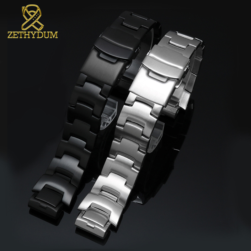 High Quality Solid Stainless Steel Watchband For Casio PRW-6000/6100/3000/3100 Watch Band 16mm Metal Watch Strap