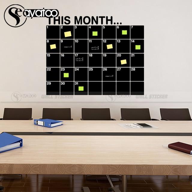 This Month Calendar Erasable Chalkboard Planner 58x72cm 4