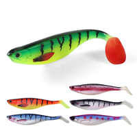 FSTK 17cm38g fishing isca soft lure artificial silicone bait leurre souple shad lure for pike shad esfing sea fishing lures