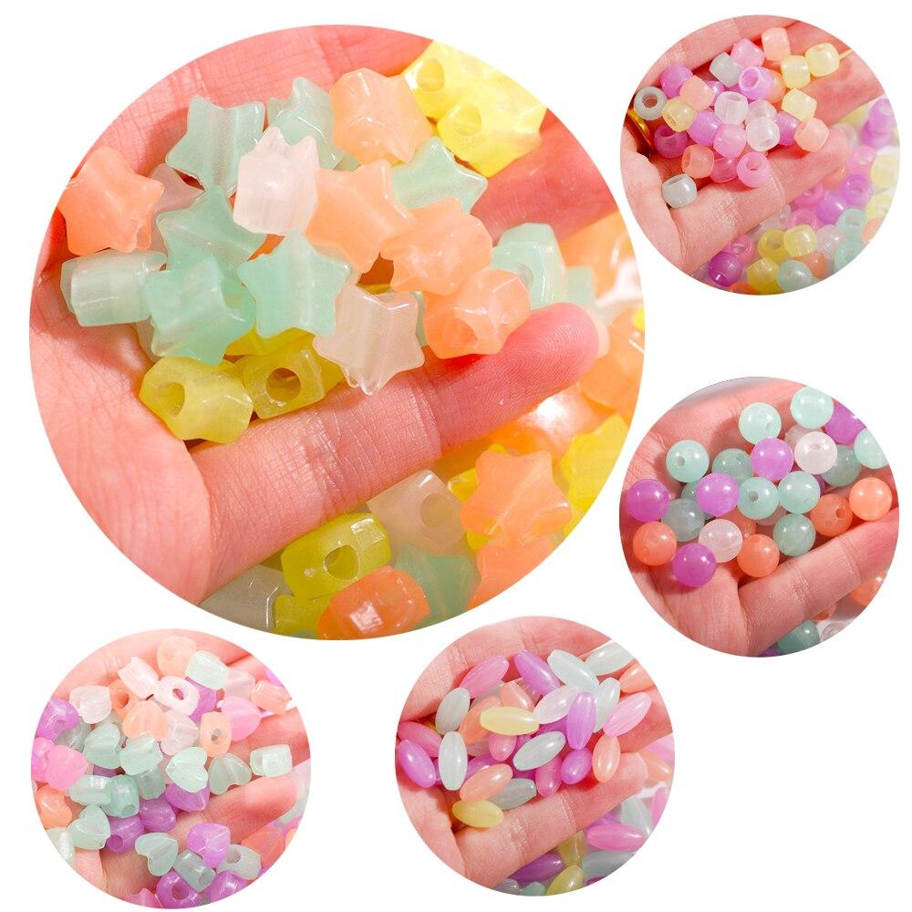 30pcs Acrylic Plastic Color Transparent Candy Color Glossy Pacifier Pendants