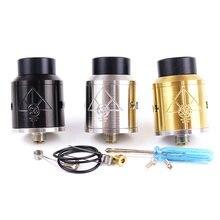 Goon 528 rda 24 mm vaporizador rebuildable gotejamento atomizadores com pino inferior alimentador melhor qualidade rda tanque para caixa mods