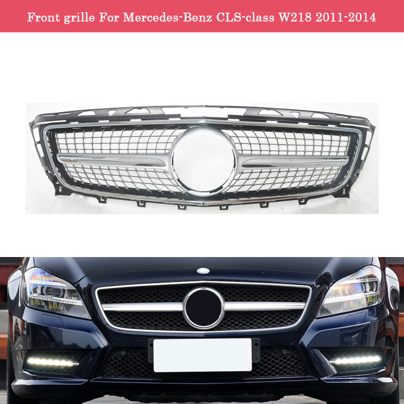 Car styling Middle <font><b>grille</b></font> for Mercedes-Benz CLS-class <font><b>W218</b></font> 2011-2014 ABS plastic GT front <font><b>grille</b></font> CLS300 CLS350 vertical bar image