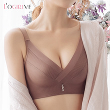 Logirlve Solid Seamless Women Underwear Push Up Bra Breathable Large Size Bras Female Lingerie Sexy Wireless Bras Comfortable bh