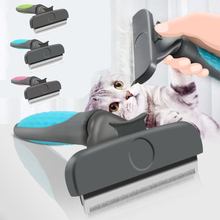 Dog Brush Stainless Steel Pet Grooming Brush Cat and Dog Hair Grooming Tool Brush Dog Comb Hair Removal Brush