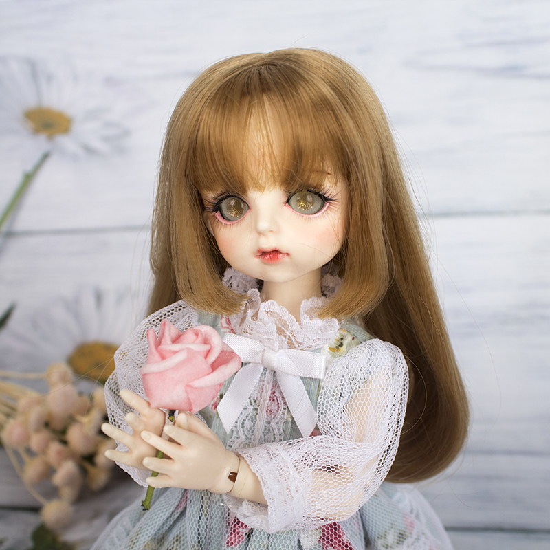 1/6 <font><b>bjd</b></font> <font><b>doll</b></font> <font><b>wig</b></font> soft fiber material curly golden hair <font><b>wig</b></font> <font><b>bjd</b></font> <font><b>doll</b></font> accessories <font><b>doll</b></font> <font><b>wig</b></font> image