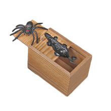 Chilren Prank bauble April Fools Day Spoof Funny Scare Small Wooden Box Spider Scary baby toys Hilarious