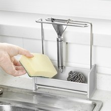 Detachable Dishcloth And Sponge Drying Rack Multifunctional Kitchen Towel Stand Soap Holder Bathroom Organizer Kitchen Storage 2 pcs makeup sponge holder drying stand