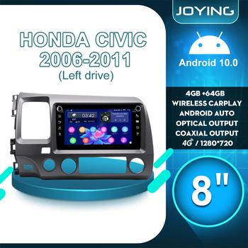 8Autoradio Android 1 Din Car Radio Multimedia Carplay Android Auto For Honda Civic 2006 2007 2008 2009 2010 2011 Left Drive 4G image