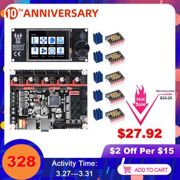 BIGTREETECH SKR V1 3 3D drukarki pokładzie + TFT24 ekran dotykowy TMC2209 TMC2208 UART TMC2130 dla Ender 3 5 mks gen L części drukarki 3D tanie i dobre opinie BIQU Motherboard SKR V1 3 Motherboard+TFT24 Smoothieware Marlin2 0 32 Bit LPC1768 TMC2208 TMC2209 UART TMC2130 TMC5160 SPI