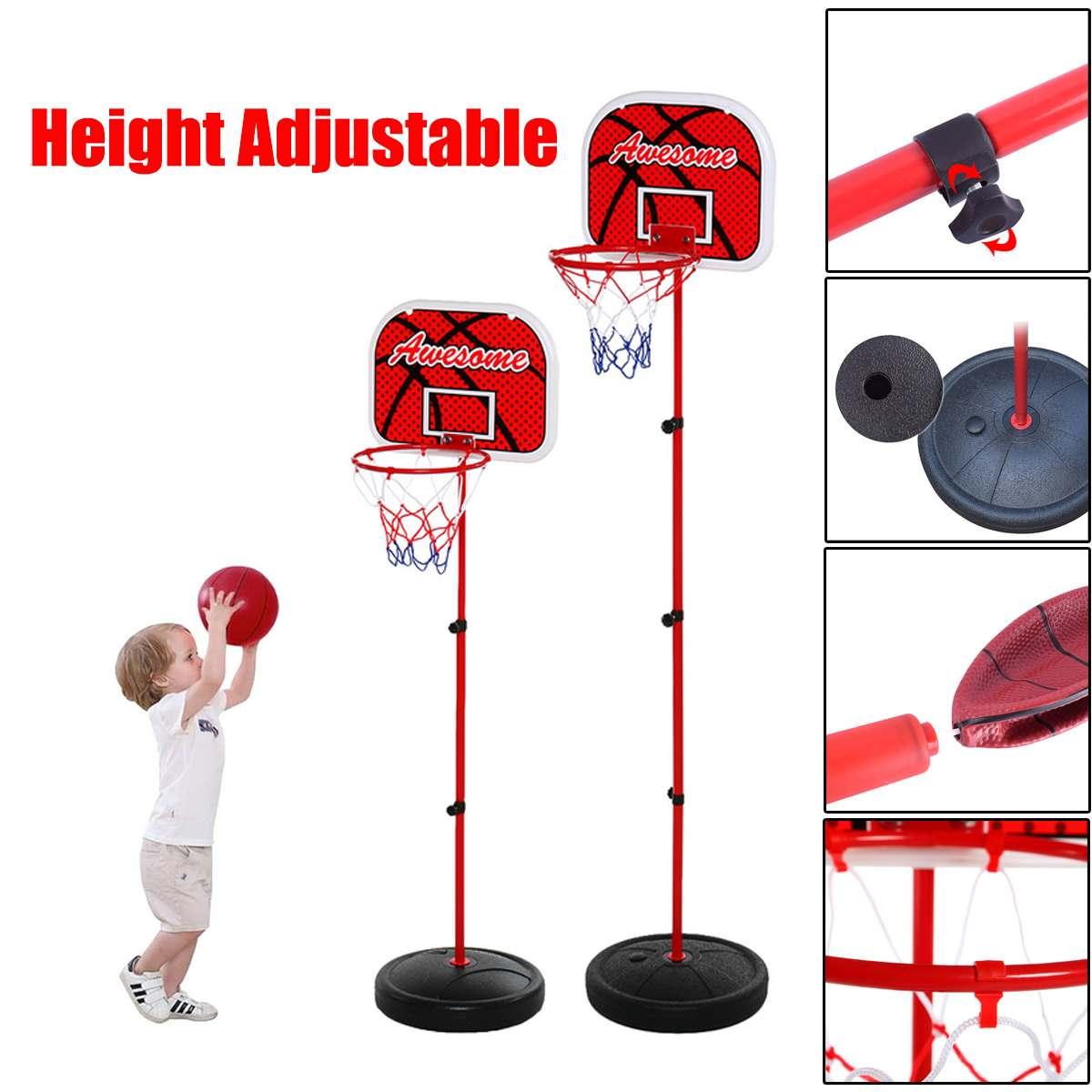 Basketball Backboard Stand Hoop Set Kids Baby Indoor Outdoor Sports Game Toy Mini Children Sports Training Practice Accessories