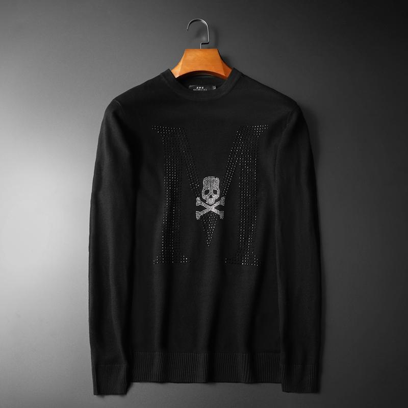 New 19 Men Luxury Mastermind Skull Classic Embroidery Diamonds Casual Sweaters Pullover Asian Plug Size High Quality Drake #M98