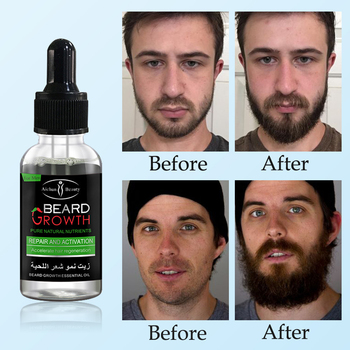 Natural Accelerate Beard Growth Oil Anti Hair Loss Men Beard Growth  Beard Grow Stimulator Facial Hair Grower 2pcs Moustache 2