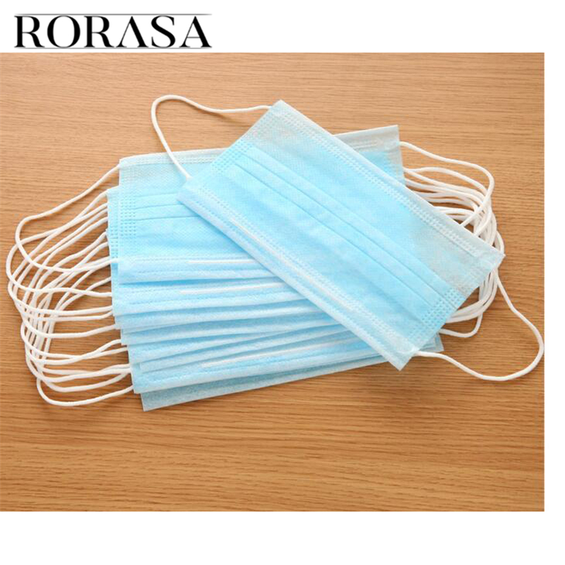 50pcs Disposable Bacterial Filter Medical Dental Activated Carbon Anti-Dust Surgical Face Mouth Mask For Health Care