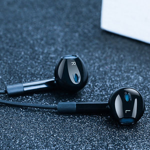 Image 1 - Langsdom Auriculares deportivos E6U con cable, auriculares intrauditivos portátiles estéreo con Supergraves, para videojuegos, música, micrófonos