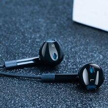 Langsdom moda spor kablolu kulaklık E6U taşınabilir süper bas stereo kulak içi kulaklık oyun kulaklığı müzik için mikrofon ile