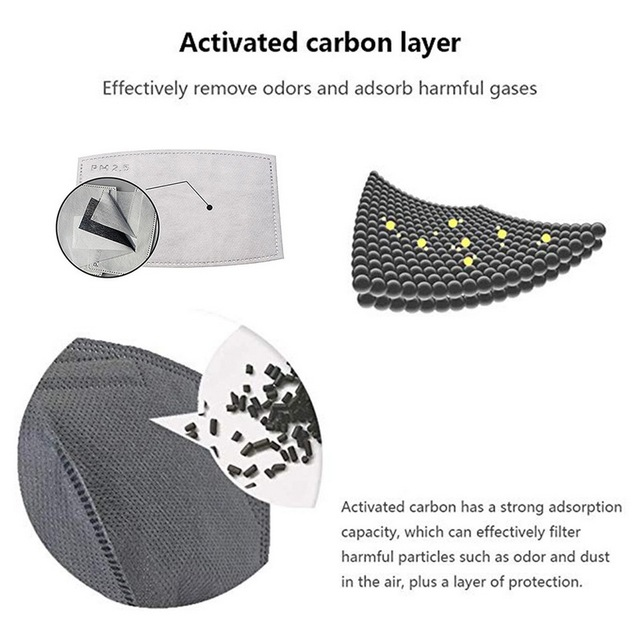 Kids Cotton PM2.5 Mouth Mask Anti Dust Mask Activated Carbon Filter Windproof Mouth-muffle Bacteria Proof Flu Face Masks Care 5