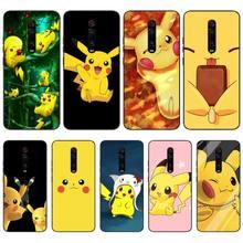 Jemy Pikachu Pokemon Soft Silicone Black Phone Case For Redm