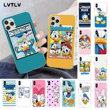 LVTLV Minnie papatya Donald Duck DIY lüks telefonu kılıfı iPhone 11 pro XS MAX 8 7 6 6S artı X 5 5S SE 2020 XR fundas(China)