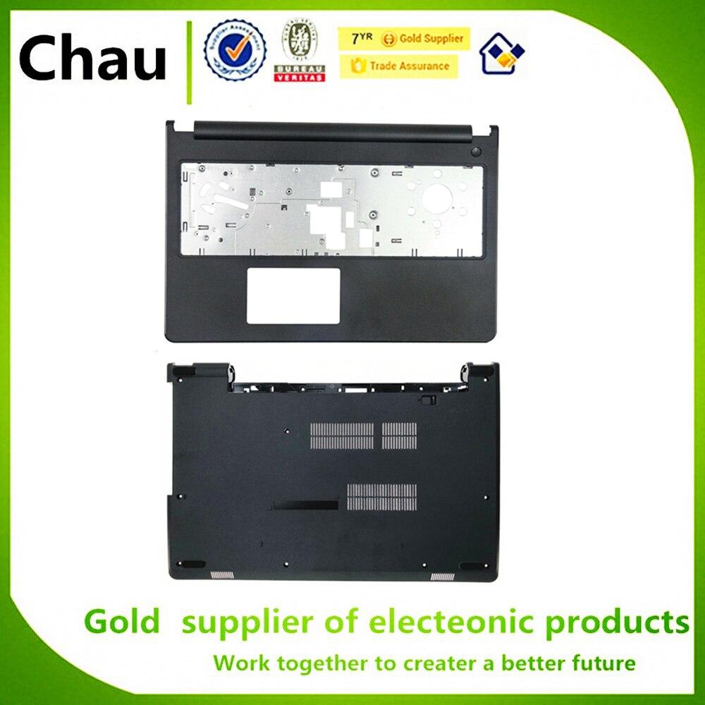 New For Dell Inspiron 15-3000 3567 3565 Upper Palmrest 0X3VRG/Bottom Case Cover 04F55W