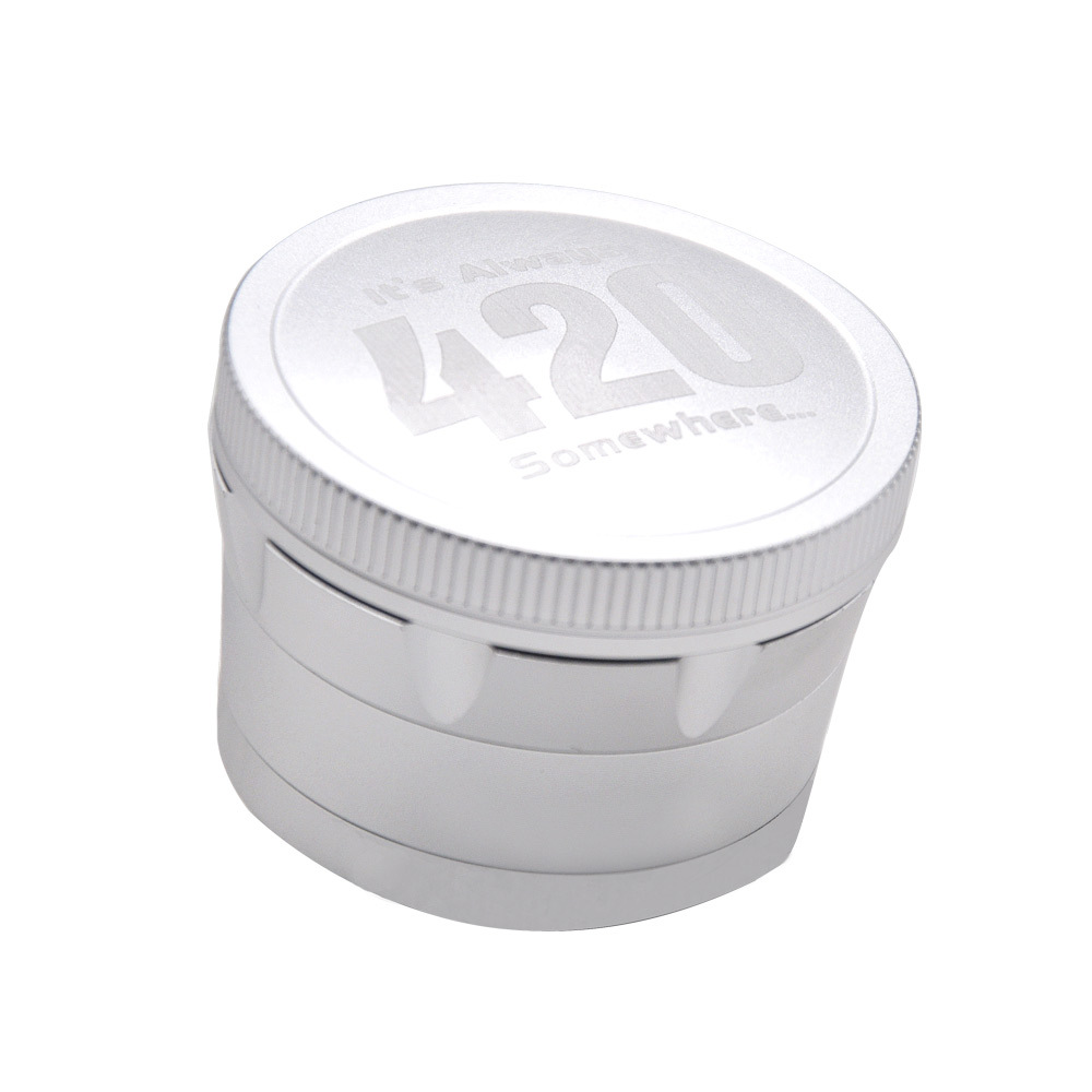 Aircraft Aluminum Herb Tobacco Grinder with Diamond Teeth 63 MM 4 Layers Herb Grinder Crusher Spice Grinder 8