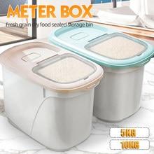 플라스틱 10/20Kg 쌀 저장 상자 봉인 된 습기 방지 대용량 곡물 밀가루 컨테이너 주방 쌀 저장 상자