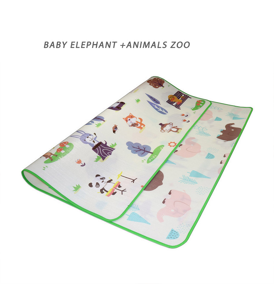 H5f9f479443644c7db308d5f3687fc28ff Baby Play Mat 0.5cm Thick Crawling Mat Double Surface Baby Carpet Rug Puzzle Activity Gym Carpet Mat for Children Game Pad