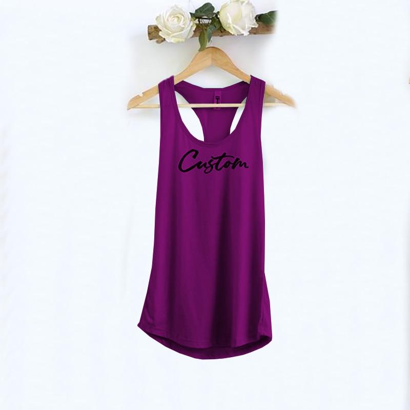 DIY customize women Tank Tops  Personalized Cusual Loose Tri-blend Sleeveless Tee Shirt 3