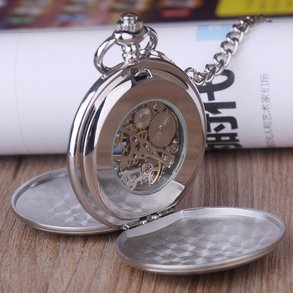 Silver-Smooth-Case-Vintage-Roman-Number-Hand-Wind-Mechanical-Pocket-Watch-Double-Open-Hunter-case-fob (2)
