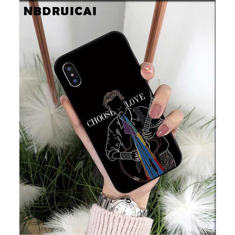 NBDRUICAI ハリースタイル治療人親切とシリコーン電話ケース iphone 11 プロ XS 最大 8 7 6 6S プラス X 5 5S 、 SE XR ケース