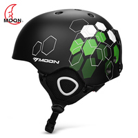 MOON Skiing Helmet 52 61cm Women Men Outdoor Integrated Safety Snowboard Skating Cyling Helmet with Adjustable Strap Air Vent
