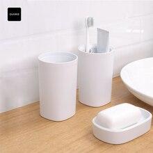 الأصلي QUANGE غسل مجموعة 3 في 1 أدوات للعناية الشخصية حمام الفم كأس الصابون صندوق مفيدة دش PP المواد سلامة مجموعة للحمام