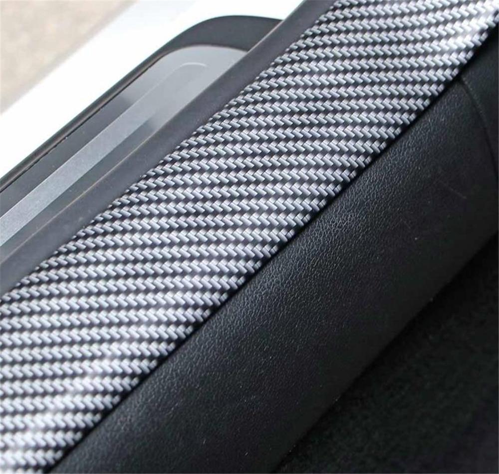 Carbon Fiber Graphic Anti-tread Protection Rubber Bar for Automobile 1M*5CM