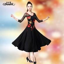 Doubl Moderne Rock Schlanker an der Taille Ballroom Dance Kleid Nationalen Standard Walzer Tango Wettbewerb Kostüm Fringe Spanisch