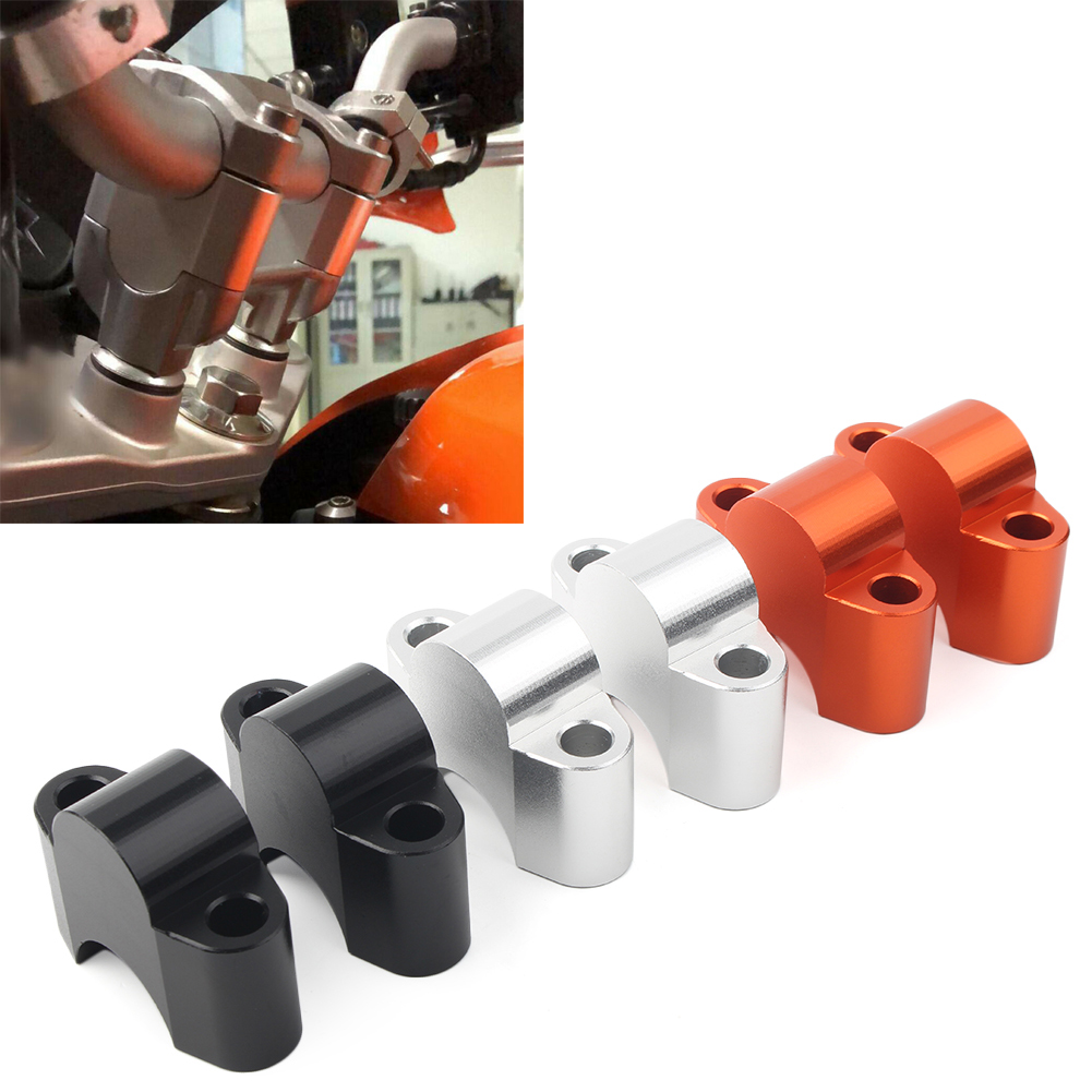 2Pcs Motorcycle Handlebar Fat Bar Risers Mount Clamp For KTM Duke 125 200 390 2011 2012 2013 2014 2015 2016 image