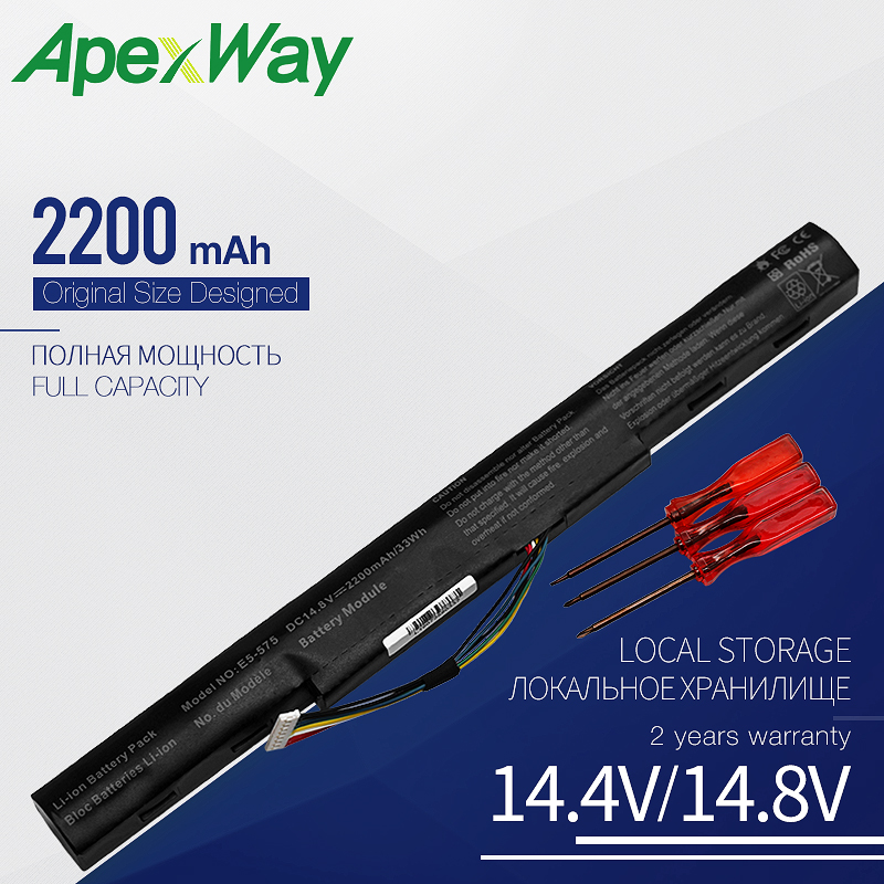 14.8V Laptop Battery For Acer Aspire E 15 E5-475 E5-475G E5-476 E5-553 E5-575 E5-575T E5-774G F5-573G AS16A5K AS16A7K AS16A8K