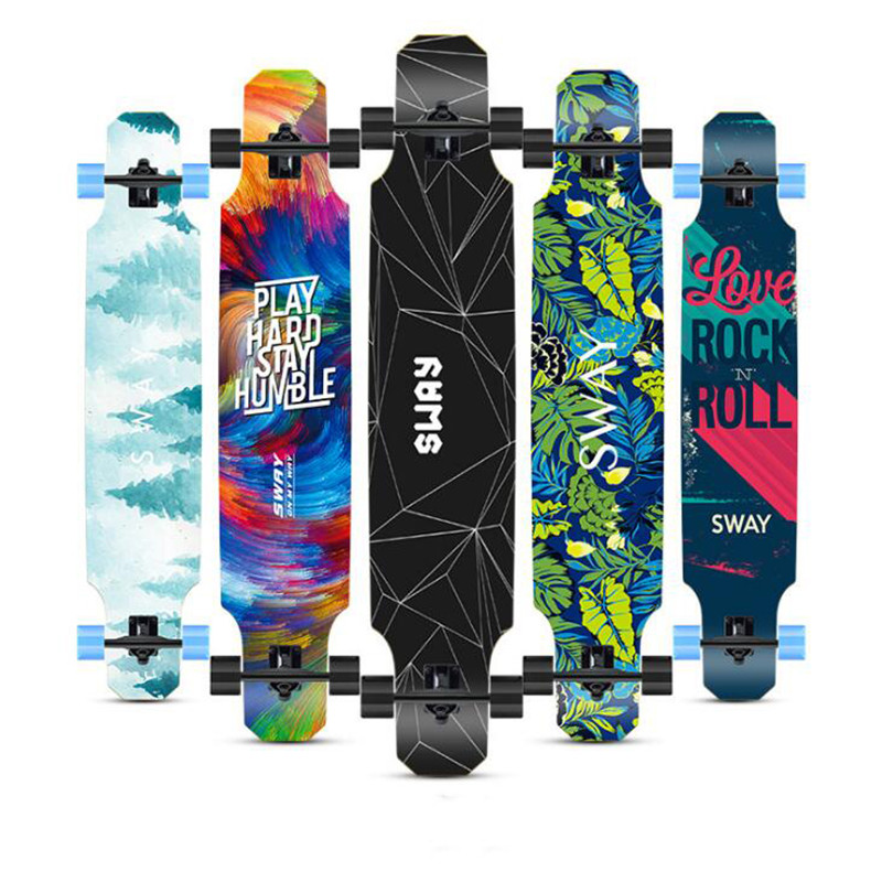 120CM Skate Longboard Dancing Board Freestyle Road Brush Street Long Board Adults Men Women Skateboard