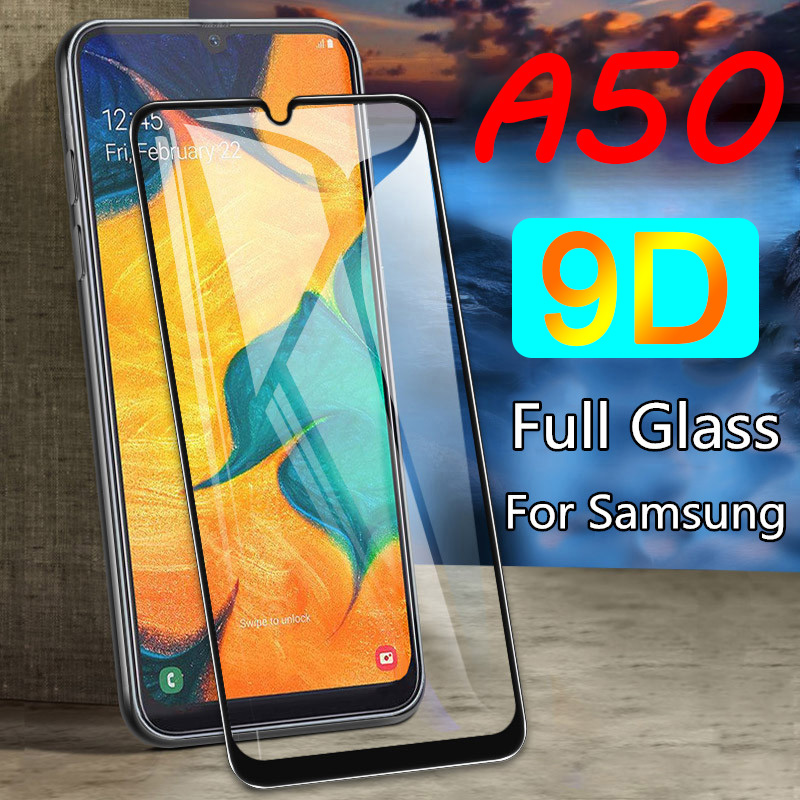 9D Protective <font><b>Glass</b></font> for <font><b>Samsung</b></font> Galaxy A50 A60 A70 A80 A90 High Quality Screen Protector for Galaxy A40 A30 A20e A10 image