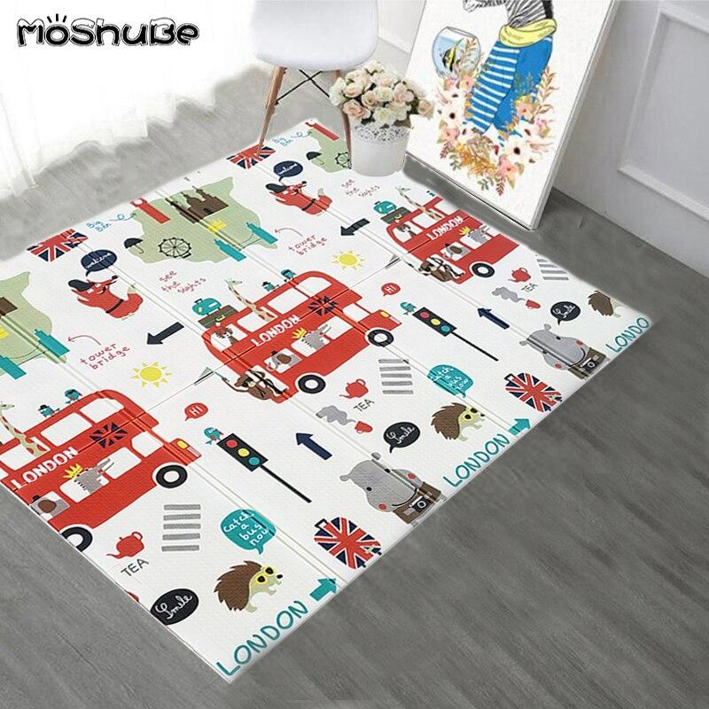 Складной Игровой Коврик XPE, коврик для ползания из пены, детский игровой коврик, одеяло, детский коврик для детей, развивающие игрушки, мягки...