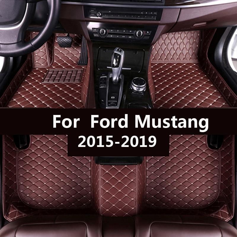 Esteiras do assoalho carro para ford mustang 2015 2016 2017 2018 2019 2020 personalizado pé almofadas automóvel tapete capa