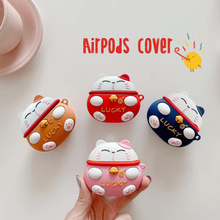 For Airpods Pro Cover Silicone Stitch Cartoon Cover, Suitable for Apple Airpods Cover Cute Earphone