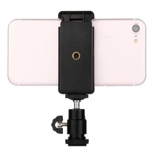 PULUZ Universal Useful 360 Degrees Stable Hot Shoe Tripod Head + Stand Clamp Suitable For Smartphones phones Black