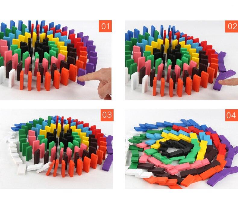 Игрушки домино, детские деревянные цветные блоки домино, наборы для раннего обучения, игры домино, Развивающие Детские обучающие игрушки ZXH