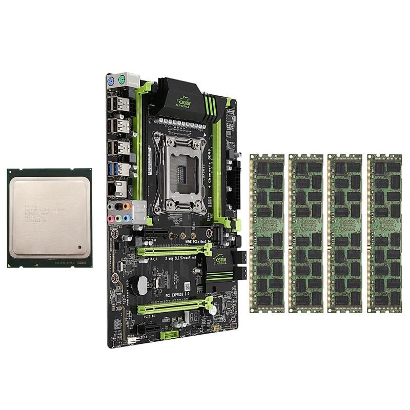 HOT-X79 LGA2011 Motherboard Combo Set With E5-2689 CPU 4X8GB 32GB DDR3 RAM 4-Ch 1600Mhz REG ECC PCI-E NVME M.2 SSD Slot