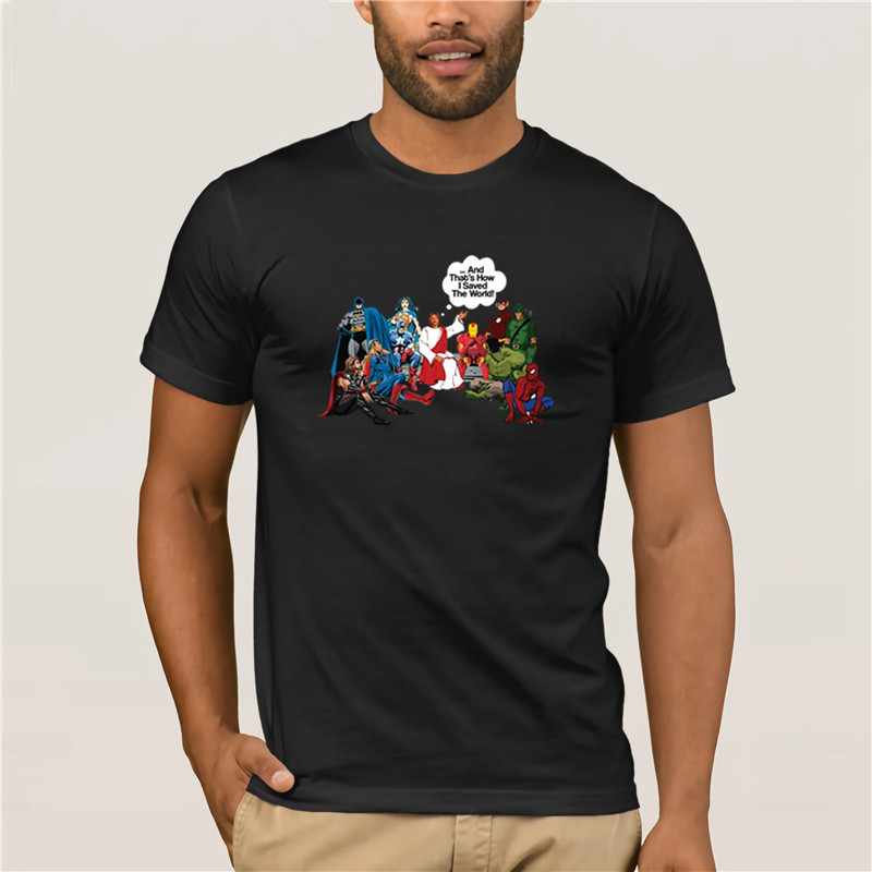 Jesus And Superheroes And That/'s How I Saved The World T-SHIRT ALL SIZES B03
