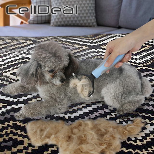 Hair Removal Comb for Dogs Cat Detangler Fur Trimming Dematting Deshedding Brush Grooming Tool For matted Long Hair Curly Pet- 2