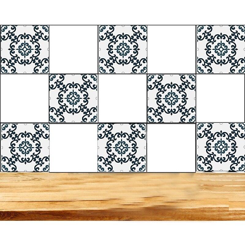 Vinyl Tile Decals Flower