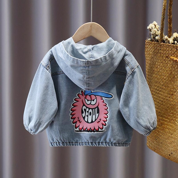 Autumn Kids Jackets for Girls Boy Coat  Boys Clothes Toddler Girl Fall Cardigan Clothes 2020 Baby Children's Denim Hooded Jacket