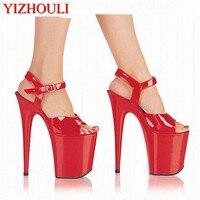 20 cm sexy mature nightclub unique temperament female sandals, sexy high heels, stage sandals